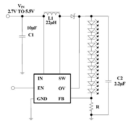 白灯背光dc dc 升压驱动 pj9293a (10串)